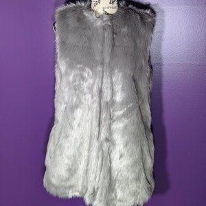 bagatelle faux fur silver vest